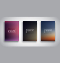 Gradient sunset sky backgrounds vector