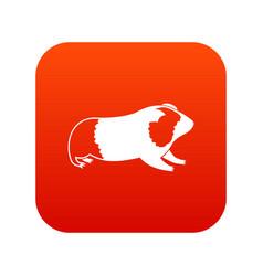 Hamster icon digital red vector