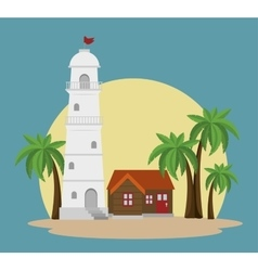 house light tower icon vector image
