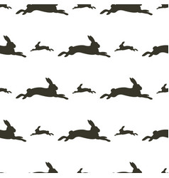 image pattern hare in different directions vector image