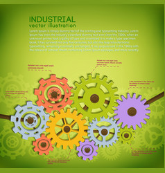 industrial technical poster vector image