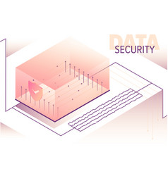 isometric big data processing concept vector image