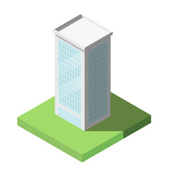 Isometric of modern office tall building for icon vector