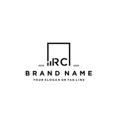 Letter rc square logo finance design vector