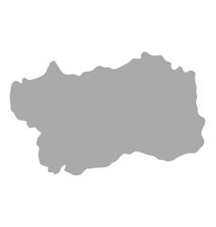 Map aosta valley vector