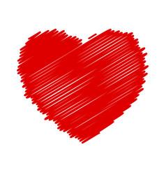 Marker isolated heart vector