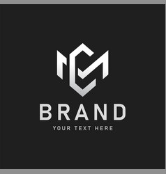 Mc or cm letter logo design vector