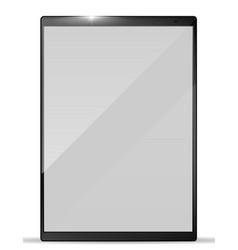 modern realistic tablet pc tablet mockup vector image