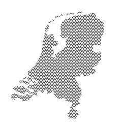 Netherlands map country abstract silhouette of vector