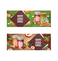 Nut nutshell of hazelnut with butter chocolate vector