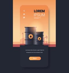oil barrels petroleum production trade oil vector image