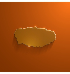 Orange eco glossy glass cloud icon vector