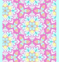 Pastel mandala pattern vector