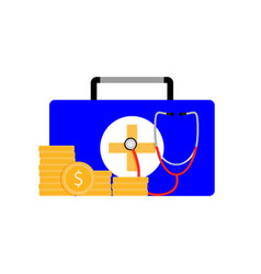pay for medicine service vector image