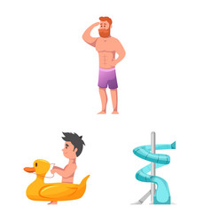 pool and swimming logo vector image