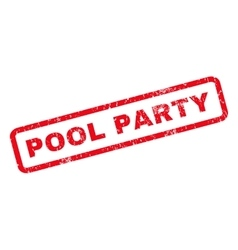 Pool Party Rubber Stamp vector image