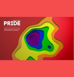 Pride concept background gay design vector