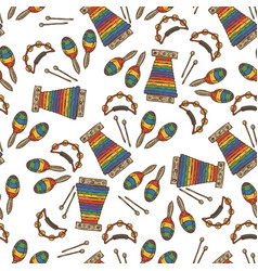 Rainbow color music seamless pattern vector
