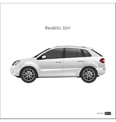 Realistic model of SUV on white background vector image