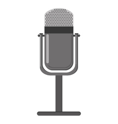 Retro microphone icon vector