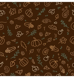 Seamless pattern of autumn symbols vector image