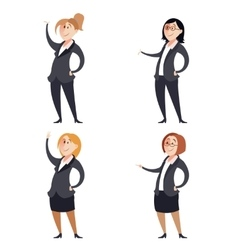 Set of businesswomen vector