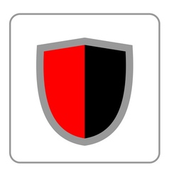 Shield icon red black gray vector