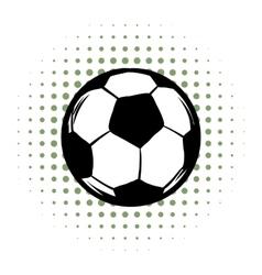Soccer comics icon vector image