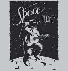 Space journey poster vector
