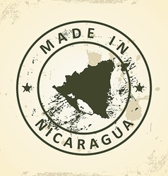 Stamp with map of Nicaragua vector image