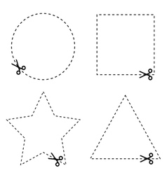 sticker of circle and triangle vector image