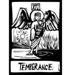 Tarot card for temperance vector