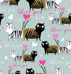 texture lovers cats vector image