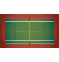 Textured Realistic Tennis Court vector