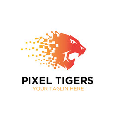 Thought tiger roar logo designs vector