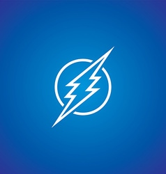 thunder bolt sign logotype vector image