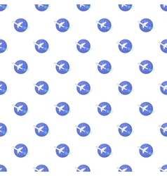Traveling by a plane pattern cartoon style vector