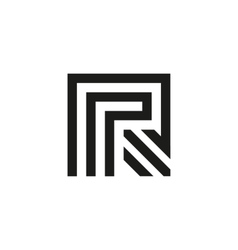 Unusual geometric letter R Architecture vector image
