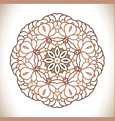 Vintage decorative mandala vector