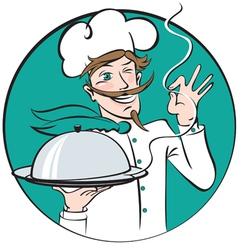 Winking chef vector