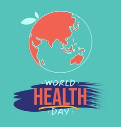 World health day with world map vector