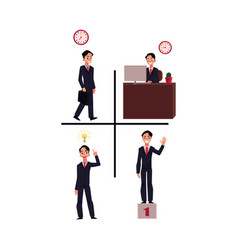 businessman going to work at workplace having vector image vector image