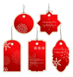 Christmas nad winter price tags vector image