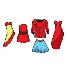 Fashion sketch set vector image
