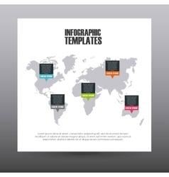 infographic templates design vector image