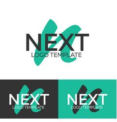 Next logo letter n logo logo template vector
