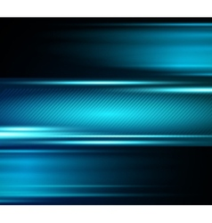 Abstract blue light shiny background vector image