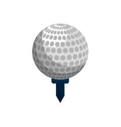 Color ball to play golf icon vector