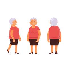 elderly woman set vector image