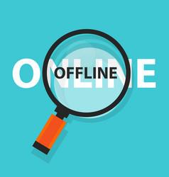 online offline concept business analysis vector image